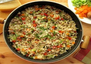 mixed veg pepper rice