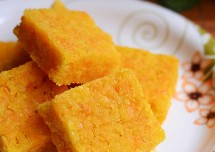 Carrot Badam Burfi