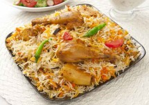 aloo chicken biryani