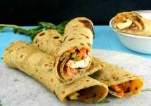 chapati veggie rolls