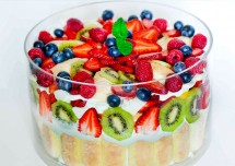 colorful mixed fruit fooding healthy dessert recipe