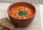 Carrot, coriander, soap soup