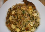 methi paneer rice recipe