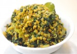 moongdal spinach curry