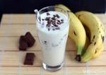 venilla banana chocolate milk shake